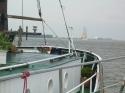 Begegnung mit dem ziemlich rostigen Schulschiff Elisabeth