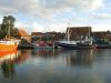 Maasholm Liegeplatz mit Blick auf den Fischereibetrieb