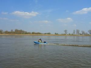 unerwartete Begegnung auf der Weser