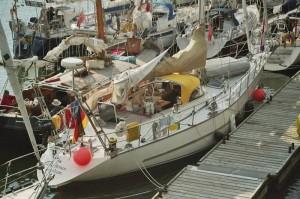 Cuxhaven 2006 unser Schiff von oben