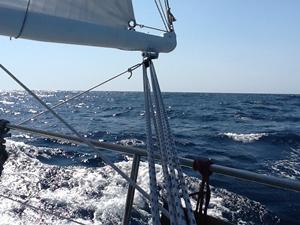 Unter Segel vorm Wind auf der Biskaya
