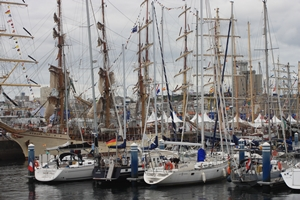 Ein kleiner Teil der Tall-Ship-Racing Flotte