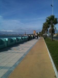 Promenade in La Linea - Treffpunkt fuer Angler, Spaziergaenger, Jogger und Radler aus Deutschland ;-)