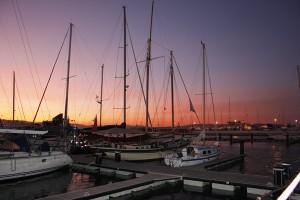 Abendstimmung ueber der Bucht von Algeciras