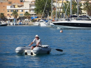 Eine von zwei derzeit sehr beliebten sportlichen Aktivitaeten des Skippers