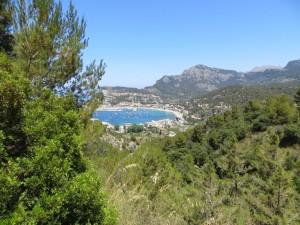 Ausblick auf die Bucht von Port de Soller