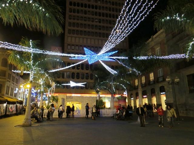 Weihnachtsbeleuchtung in Santa Cruz
