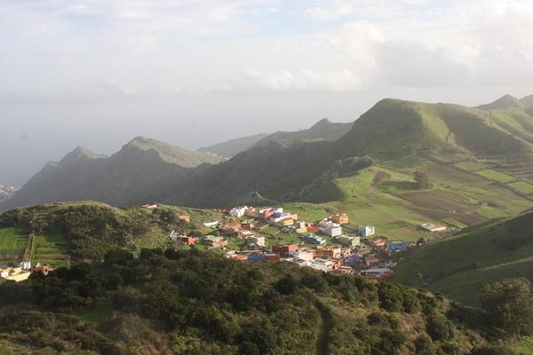 Im Anaga-Gebirge - Blick ins Tal