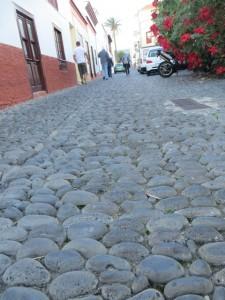 Kieselsteinpflaster in San Andres