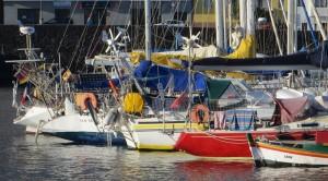 Heckparade im Hafen von La Restinga