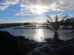 Der Hafen von La Restinga in der Abendsonne
