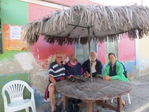 Ein letztes Mal am TO-Stammtisch in Palmeira auf Sal