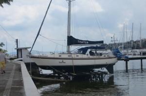 Das ist für unser Schiff leider keine Kranalternative - schade, sieht praktisch und einfach aus