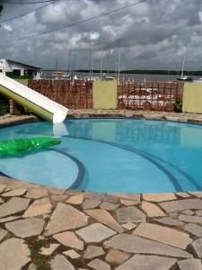 Hier der kleine Pool
