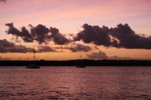 Sonnenuntergang ueber dem Paraibo, Jacaré Brasilien