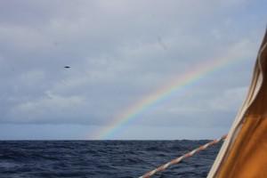 Segeln unterm Regenbogen - Vor St. Vincent keine Seltenheit
