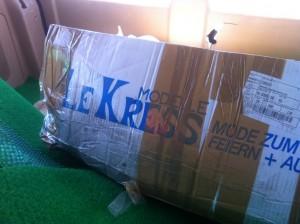 Angekommen - unser Paket