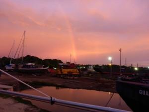 Regenbogen und Abendrot wo eigentlich gar keines hingehört