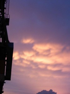 Wolkenbild im Westen