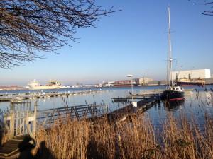 Blick über den Hafen - Marina am Leuchtturm