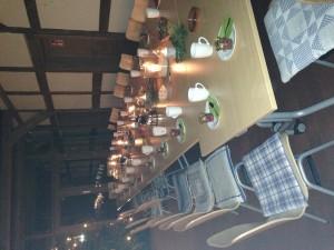 Gedeckter Tisch im Müllerhaus