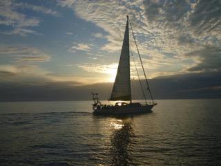Abendstimmung vor der Küste Kubas