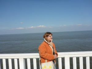 auch wenn der Horizont mal wieder in Schieflage geraten ist - der Blick aufs Wasser ist einfach schön!