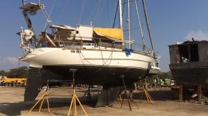 Einsam und verlassen auf dem Boatyard