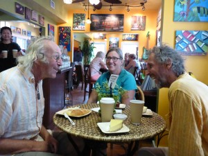 Café Plantation - unsere Einreise in die USA muss gefeiert werden, mit Kuchen & Kaffee