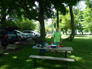 Picknickbank-Camper
