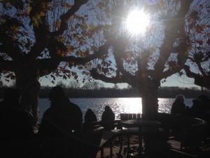 Sitzen am Weinstand Eltville, Gesicht in die Wintersonne halten, dazu einen Glühwein - so schön kann November sein!