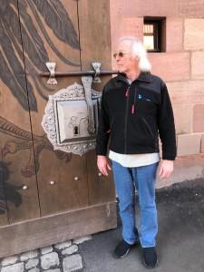 Türschloss in der Burg von Nürnberg - das sind Dimensionen!